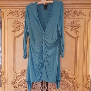 GRACE Elements sky blue tunic blouse sz:XL